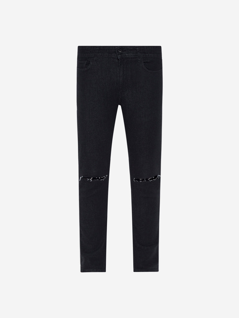 Nuon Black Carrot Fit Rodeo Cropped Jeans