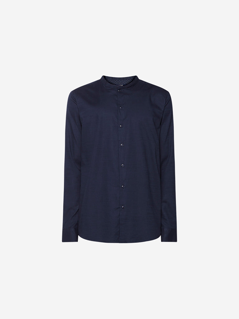 Ascot Navy Tailored Fit Shirt