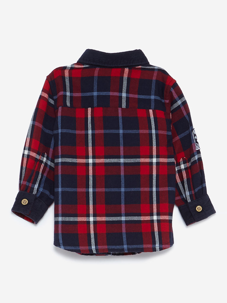 Baby HOP Red Checkered Cotton Shirt