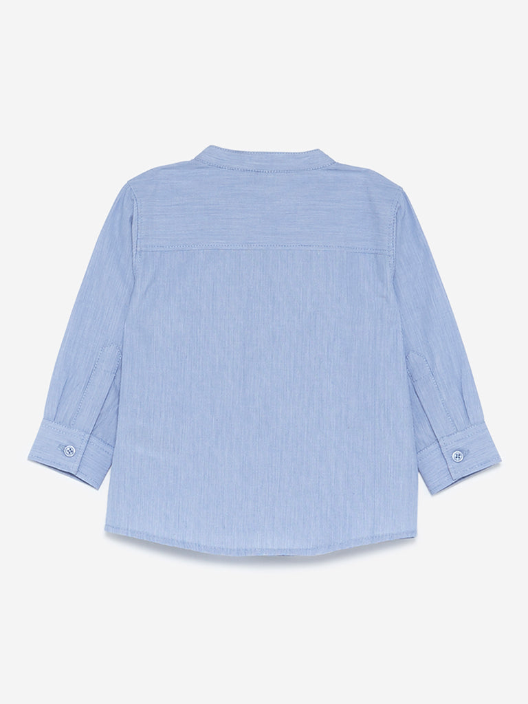Baby HOP Light Blue Embroidered Shirt
