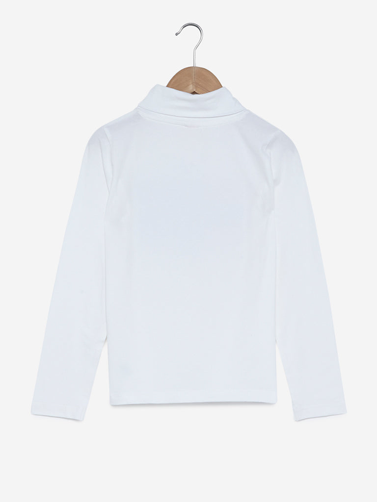Y&F Kids White Sequinned Top