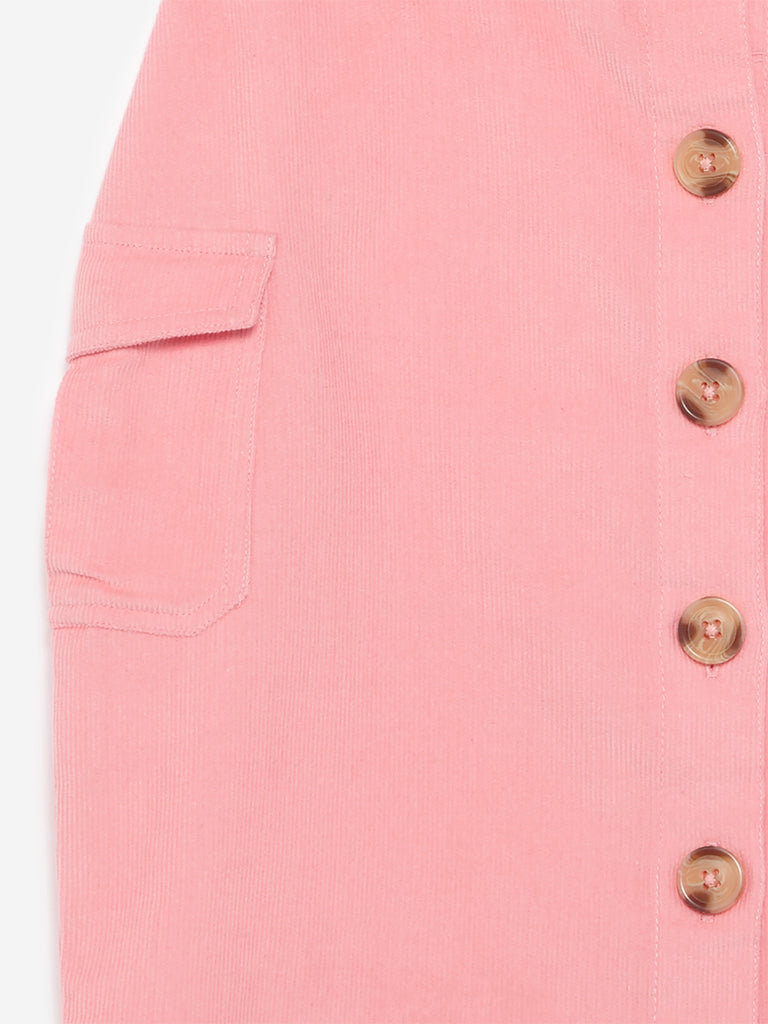 Y&F Kids Blush Pink Corduroy Skirt