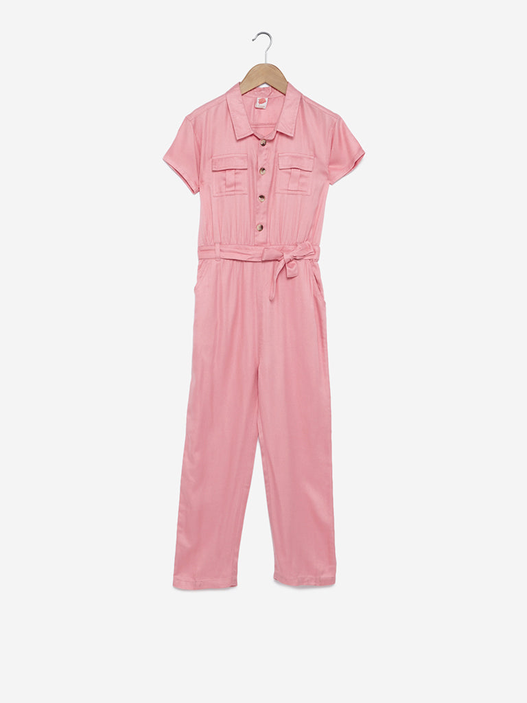 Y&F Kids Blush Pink Jumpsuit