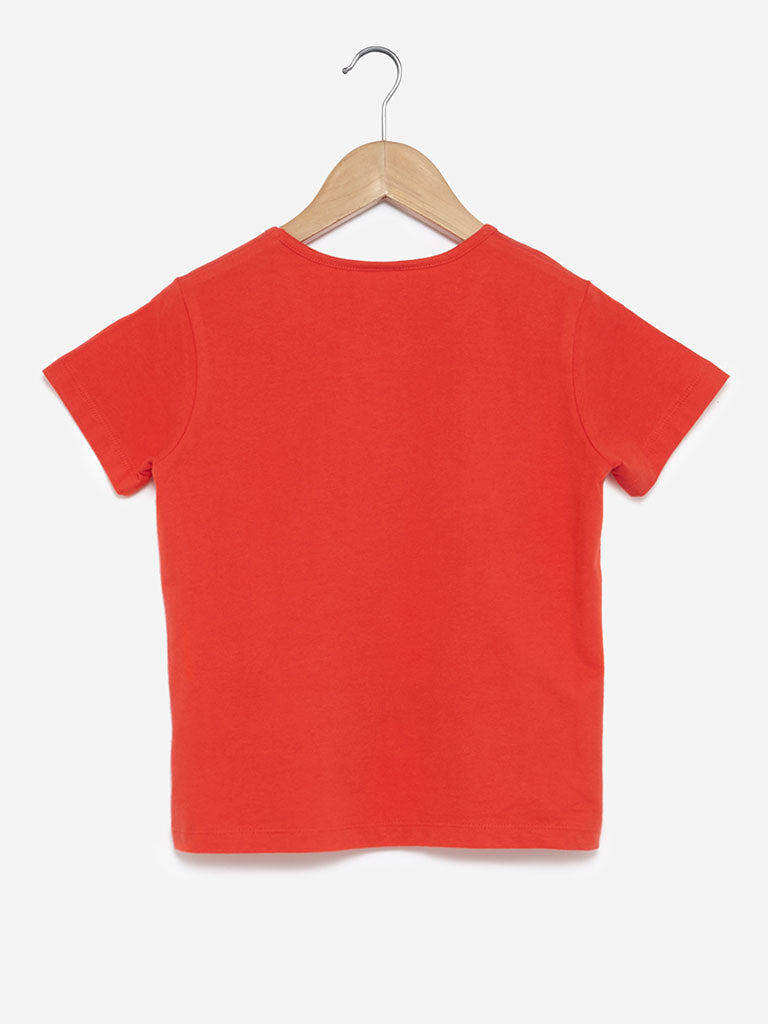 Y&F Kids Red Sequinned Natee T-Shirt