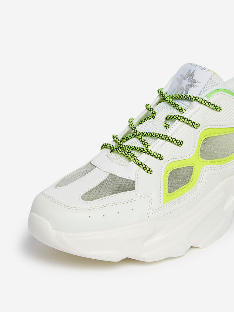 Shop SOLEPLAY White Chunky Sneakers