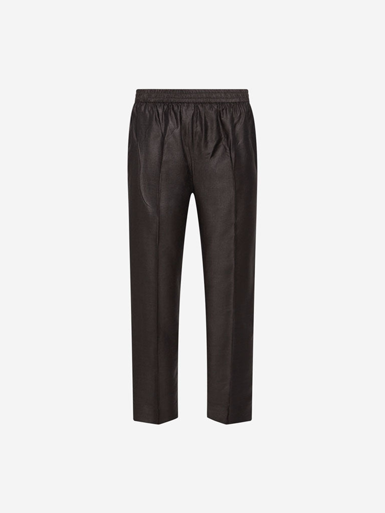 Zuba Dark Grey Slim Fit Ethnic Pants
