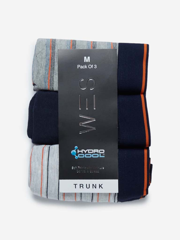 WES Lounge Grey Hydro Cool Trunks Pack of Three