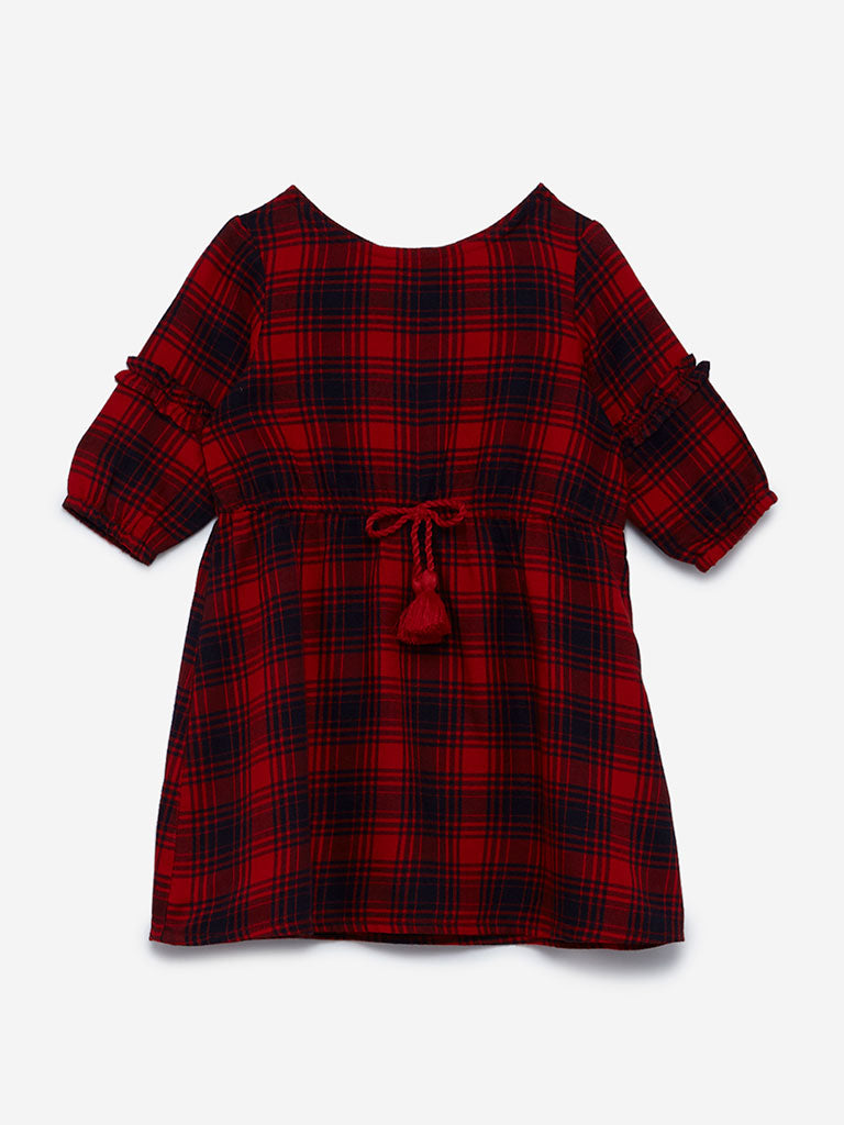 Baby HOP Red Checkered Alba Dress