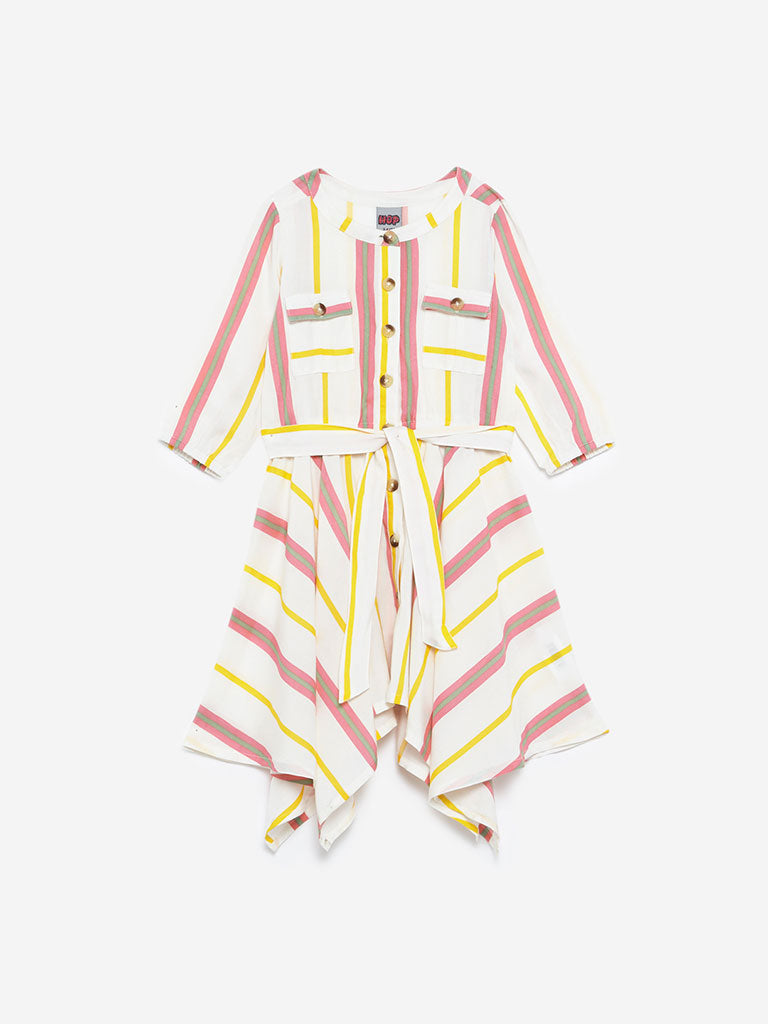HOP Kids Multicolour Promina Striped Dress