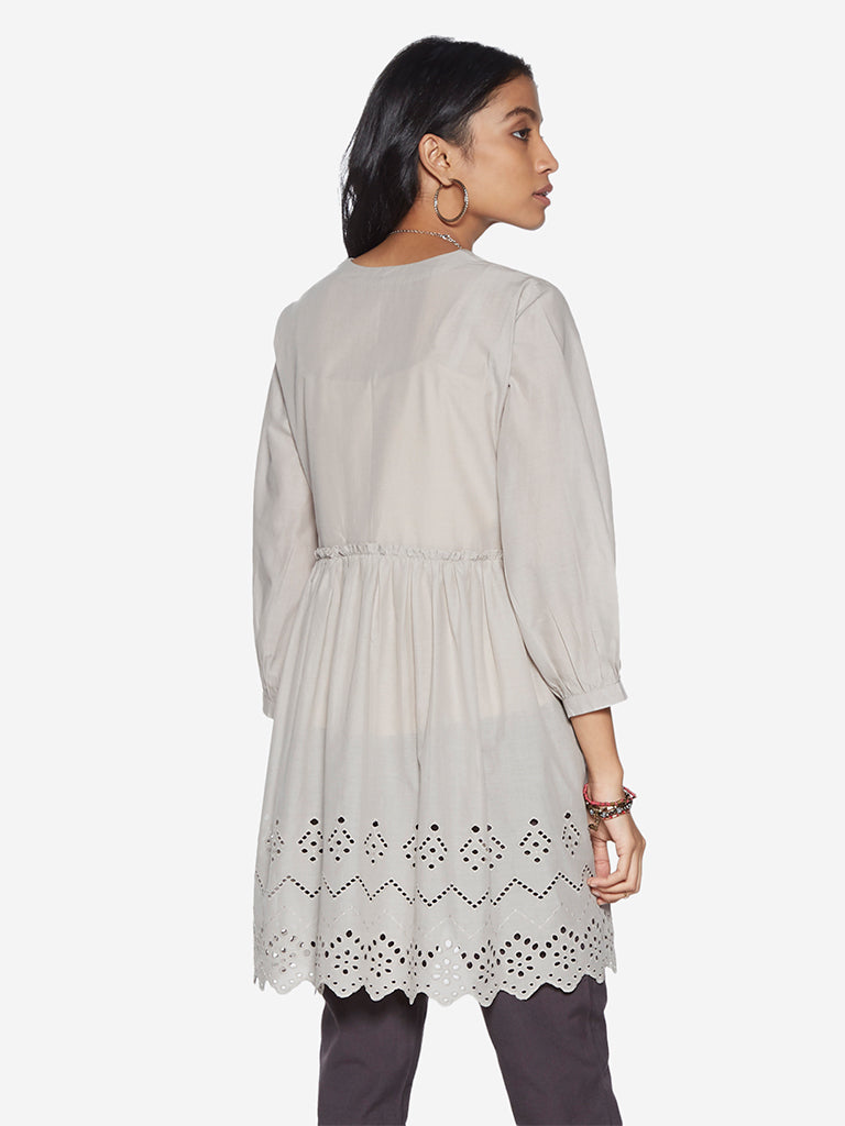 Bombay Paisley Grey Broderie Anglaise Tunic