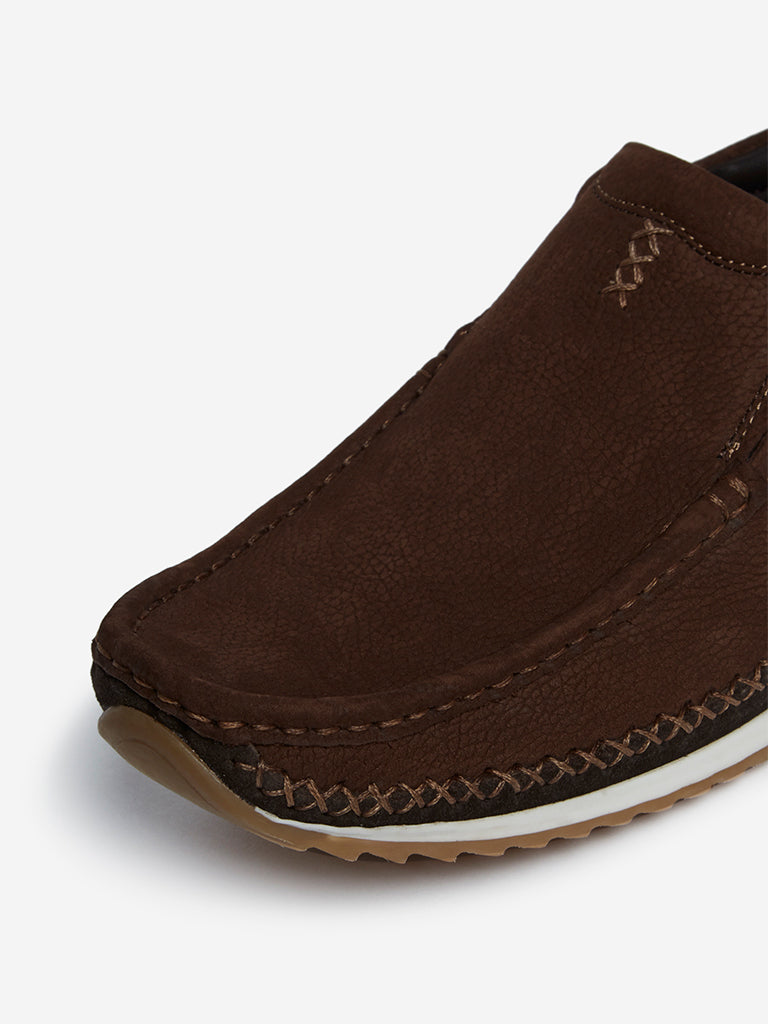 SOLEPLAY Brown Embroidered Loafers