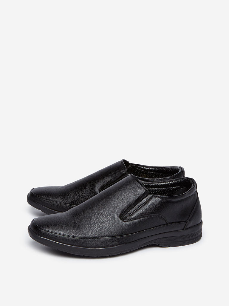 SOLEPLAY Black Faux-Leather Loafers