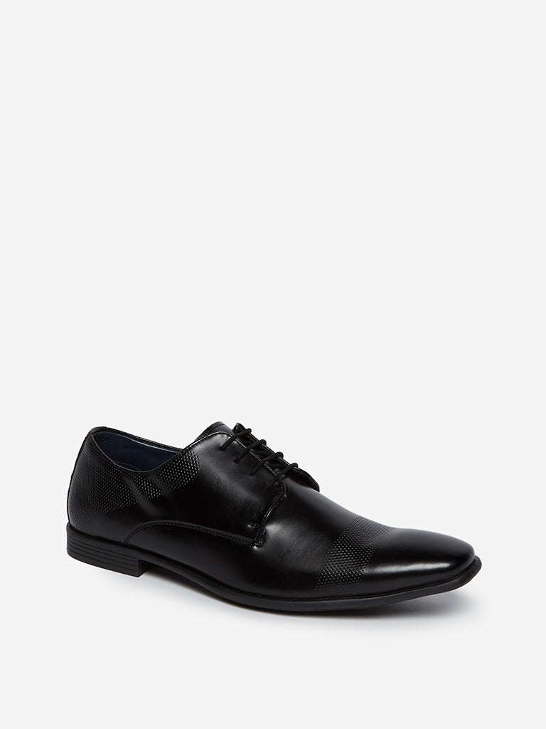 Shop SOLEPLAY Black Perforated Derby