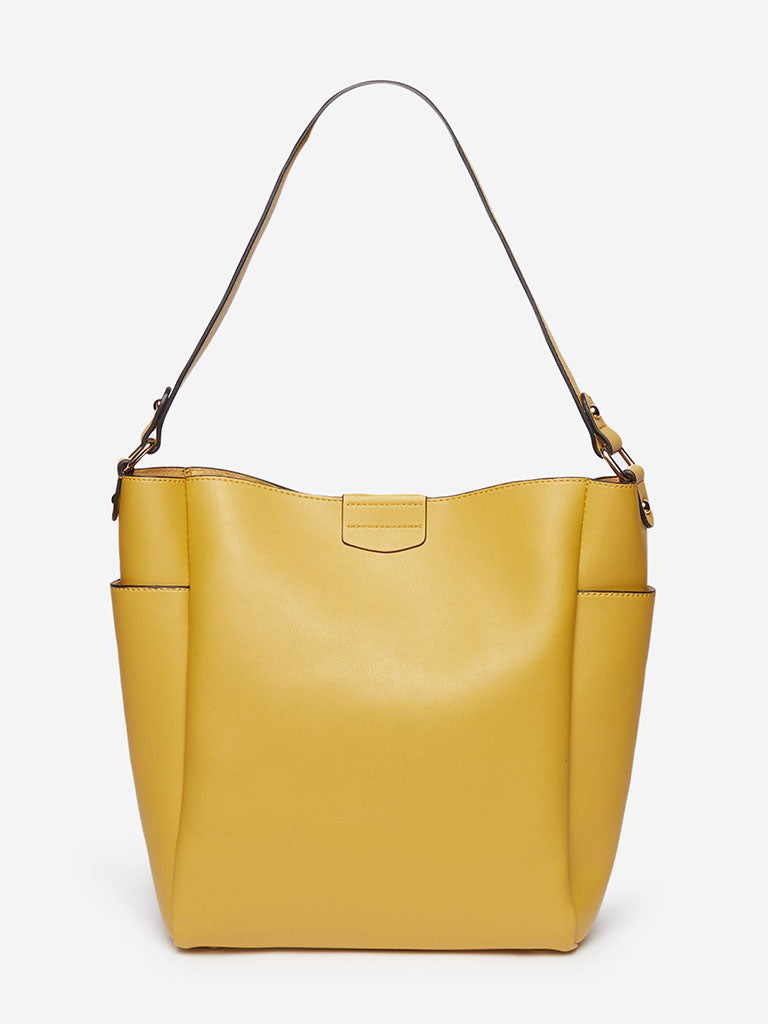 LOV Mustard Alice Hobo Tote Bag With Pouch