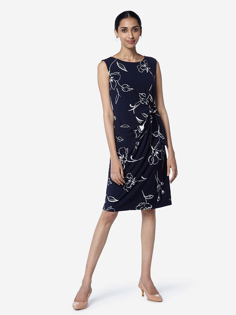 Wardrobe Navy Olivia Floral Dress