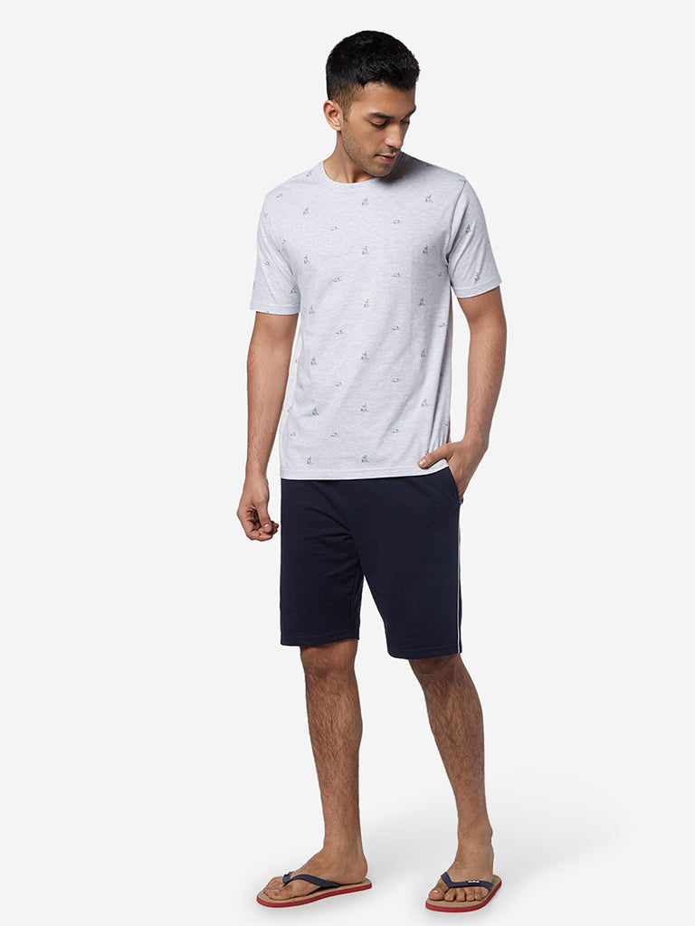 WES Lounge Ecru Melange Relaxed Fit T-Shirt