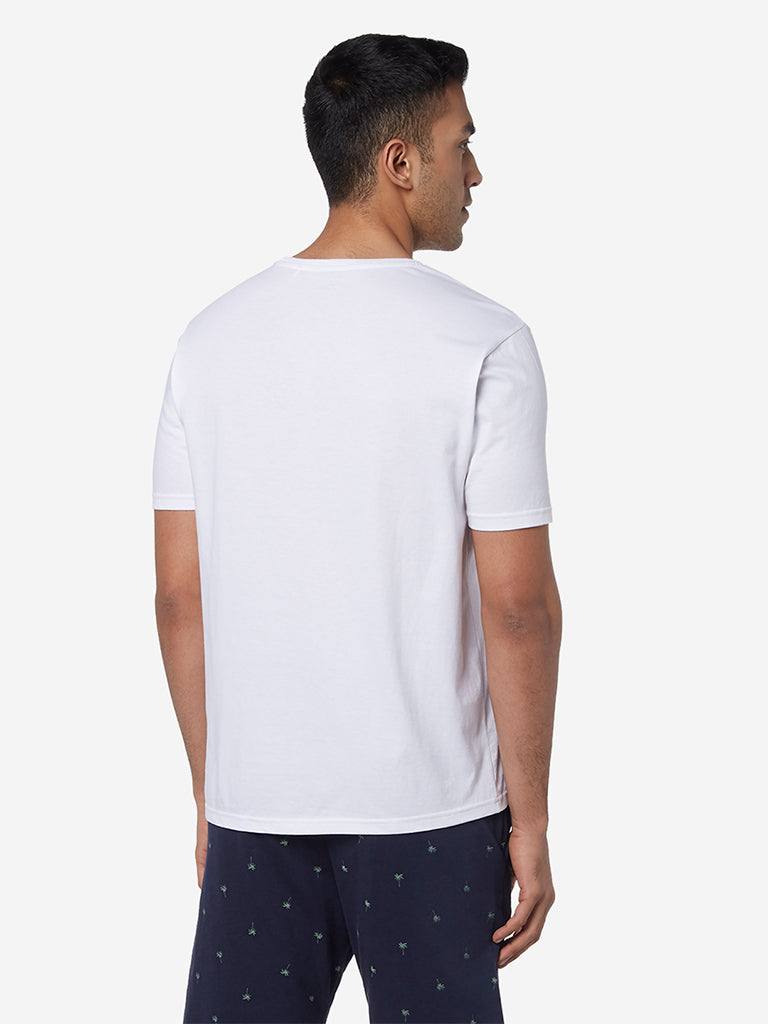 WES Lounge White Relaxed Fit T-Shirt