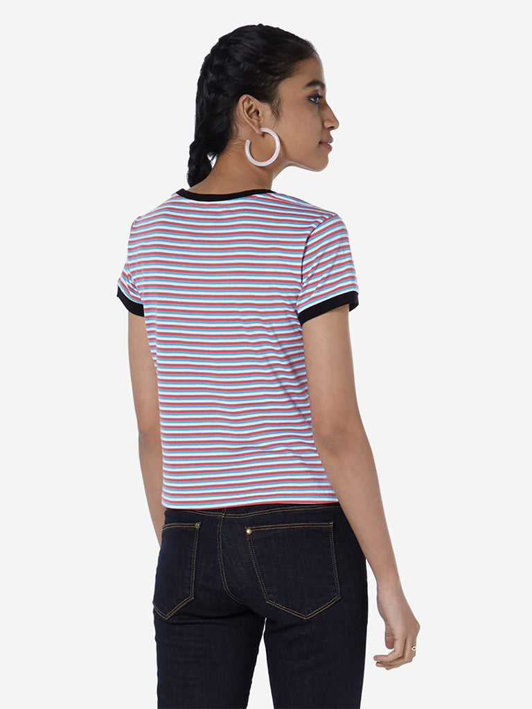 Nuon Multicolour Striped T-Shirt