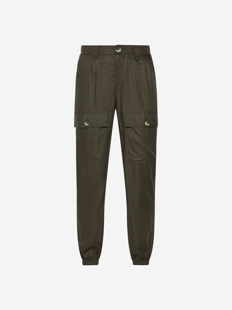 Nuon Olive Cargo Joggers