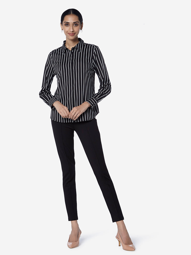 Wardrobe Black Striped Agnus Shirt