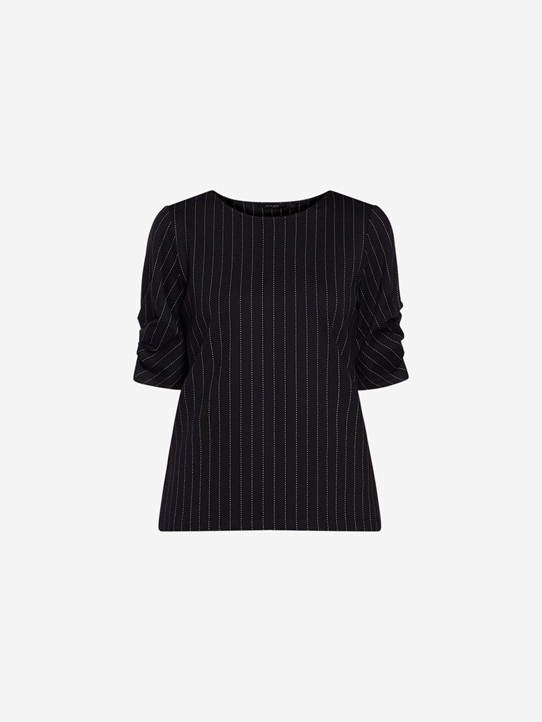 Wardrobe Black Striped Adisa Top