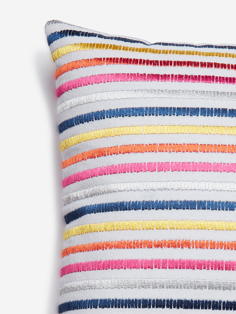 Westside Home Multicolour Stripe Patterned Cushion Cover