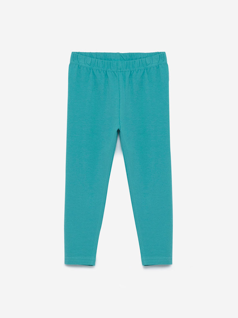 Utsa Kids Sea-Green Leggings