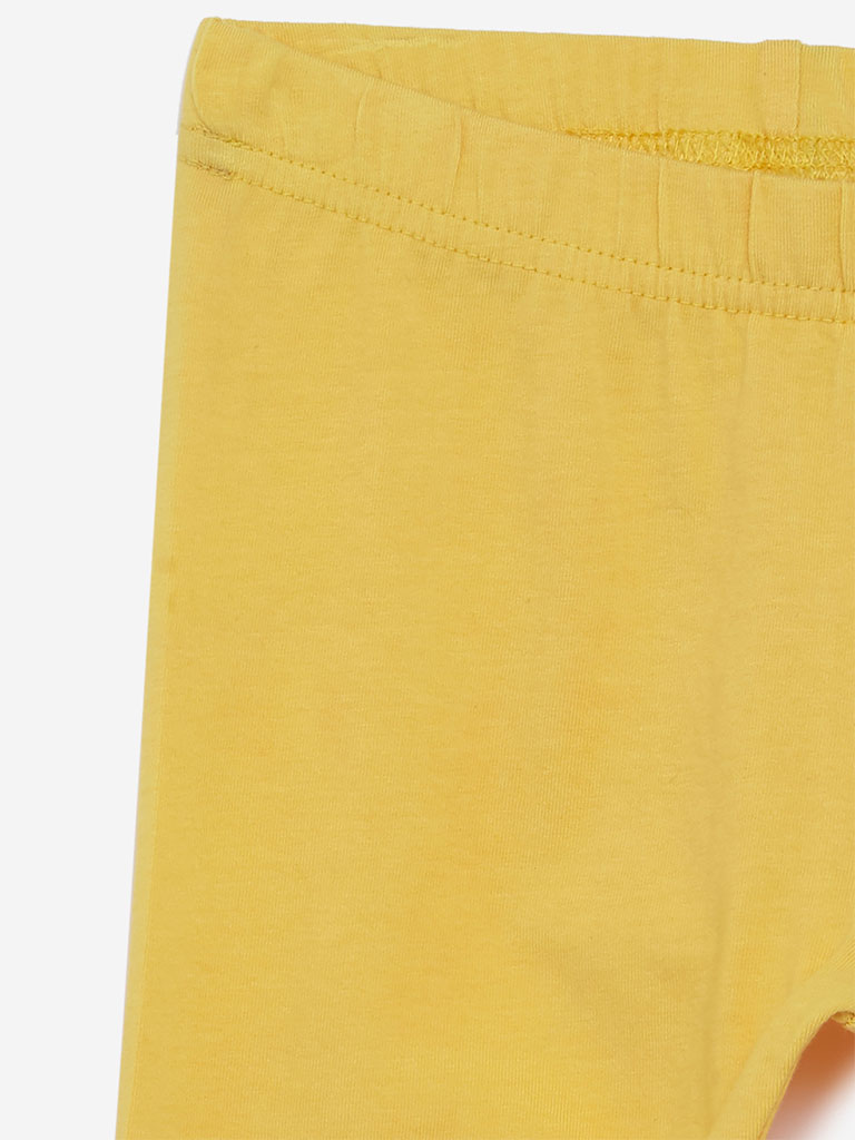 Utsa Kids Yellow Leggings
