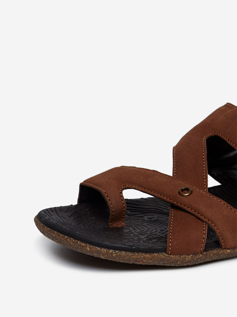SOLEPLAY Tan Leather Sandals