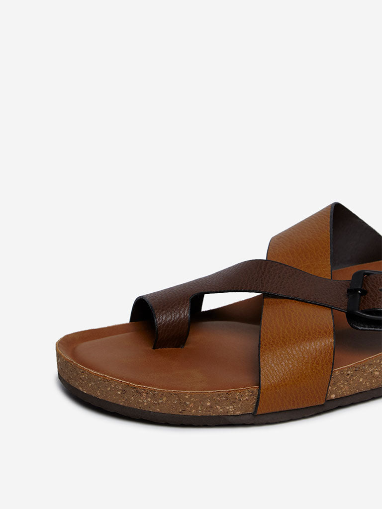 SOLEPLAY Brown Buckled Sandals
