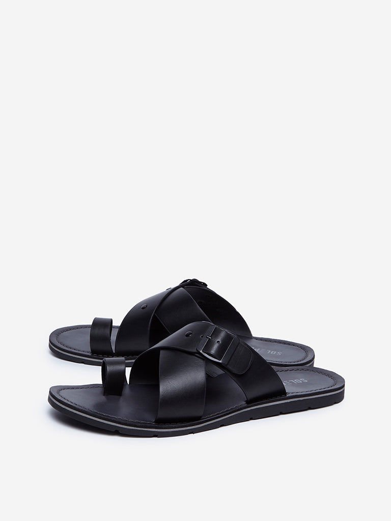 SOLEPLAY Black Casual Sandals