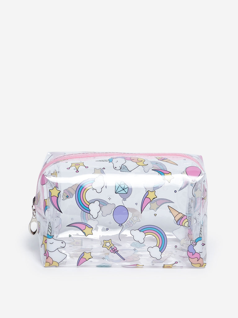 Westside Multicolour Unicorn Patterned Travel Pouch