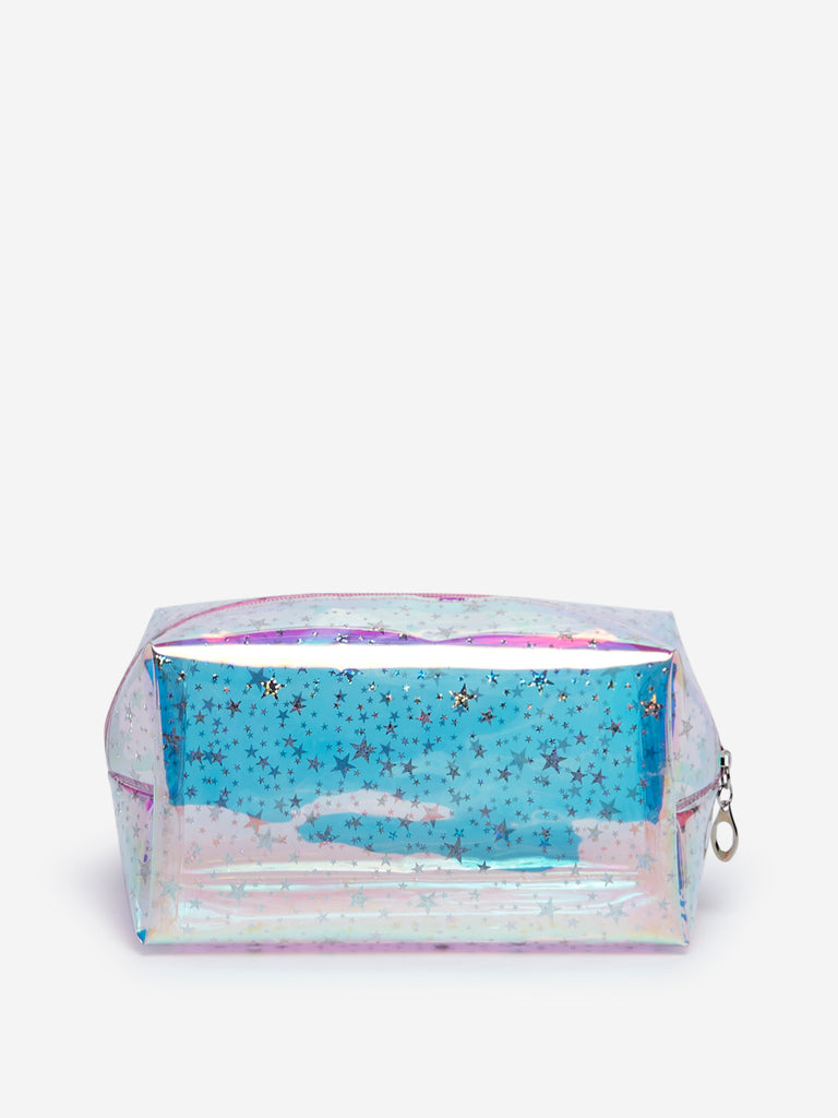 Westside Multicolour Star Iridescent Travel Pouch