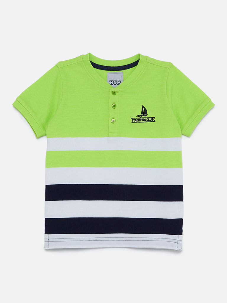 HOP Kids Neon Green Henry T-Shirt