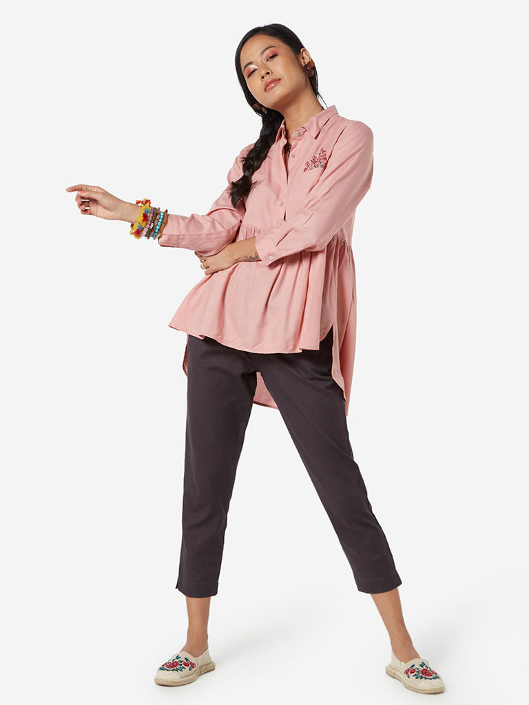 Bombay Paisley Pink High-Low Tunic