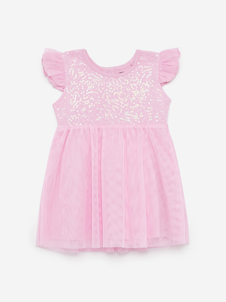 Baby HOP Lilac Sequinned Anna Dress