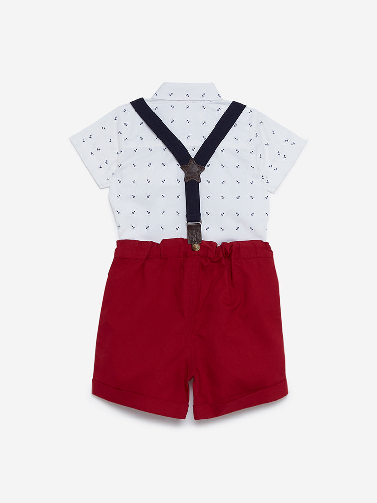 Baby HOP Red Emon Shirt And Shorts Set
