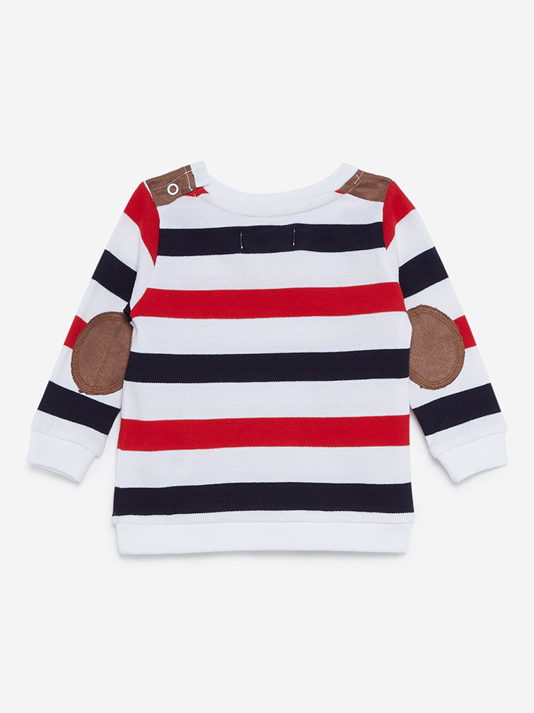 Baby HOP Red Striped Pure Cotton T-Shirt