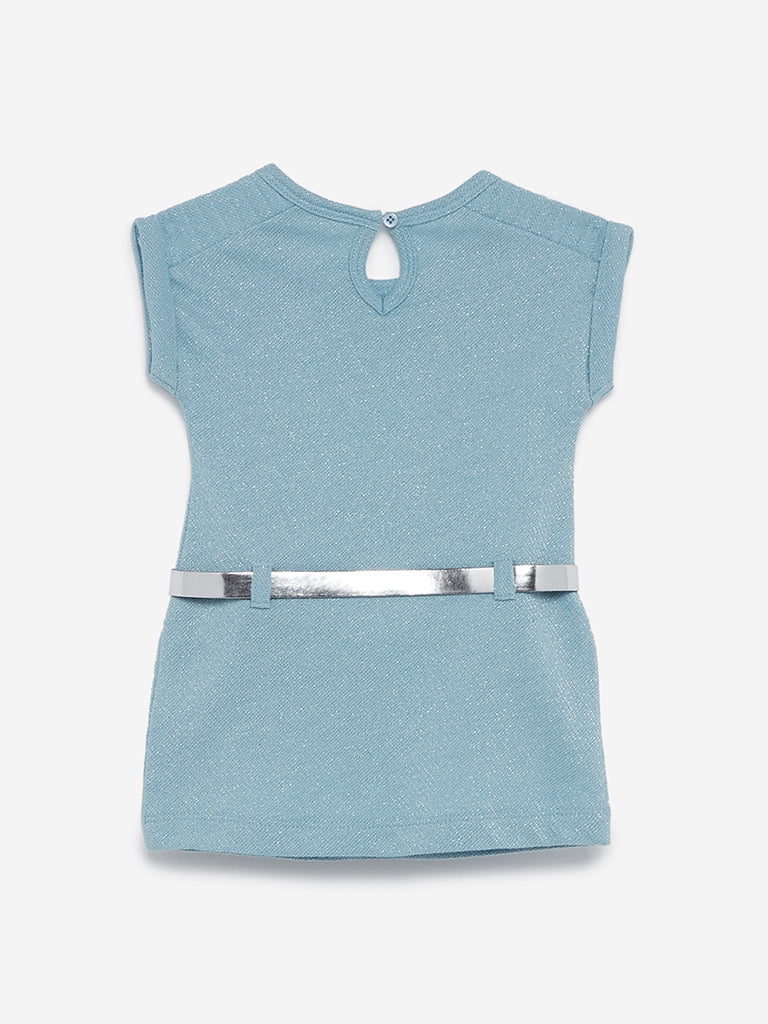 Baby HOP Blue Karen Dress With Belt