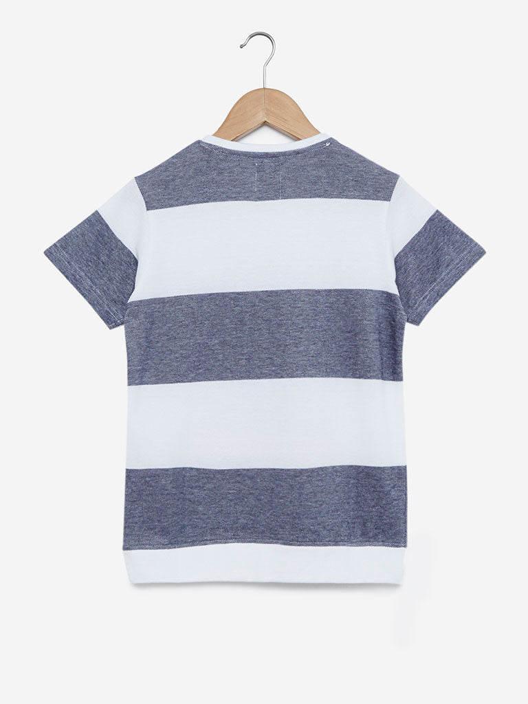 Y&F Kids Multicolour Sailboat Crewneck T-Shirt