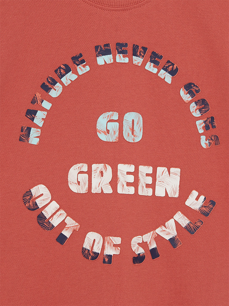Y&F Kids Rust Go Green Crewneck T-Shirt