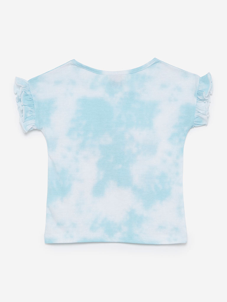 HOP Kids Light Blue Sequinned Frida Top