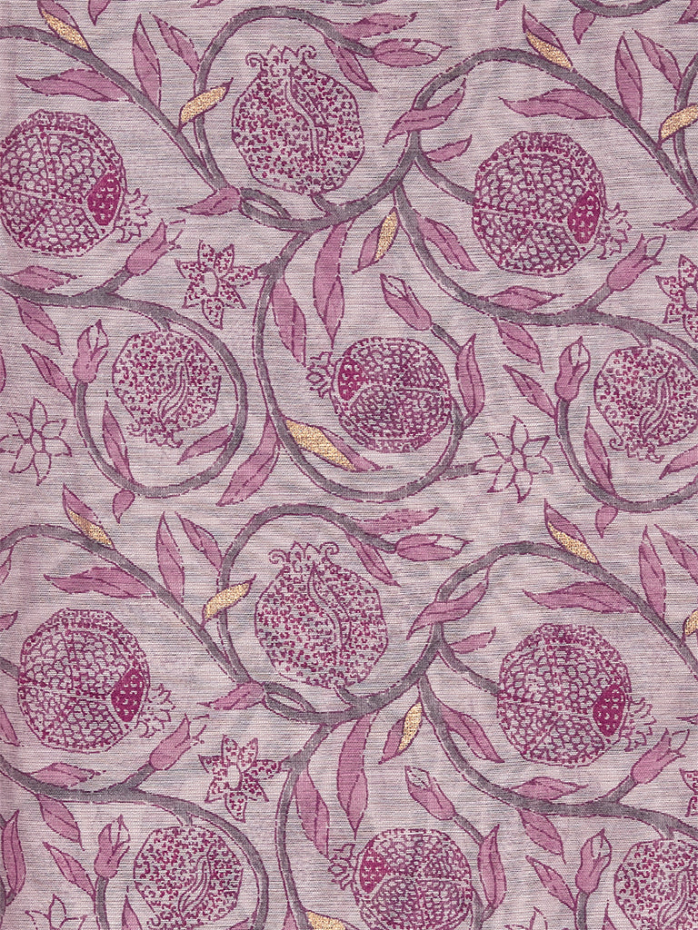 Zuba Lilac Printed Cotton-Silk Stole