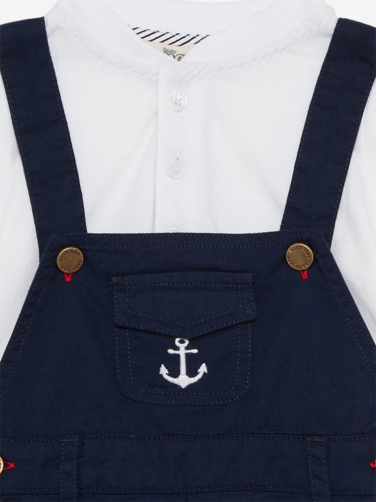 Baby HOP Navy Dungarees And T-Shirt Jamie Set