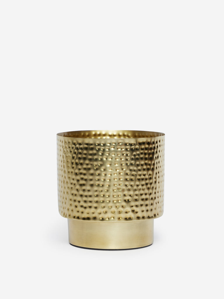 Westside Home Gold Textured Planter