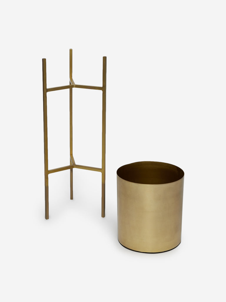 Westside Home Gold Small Planter with Stand