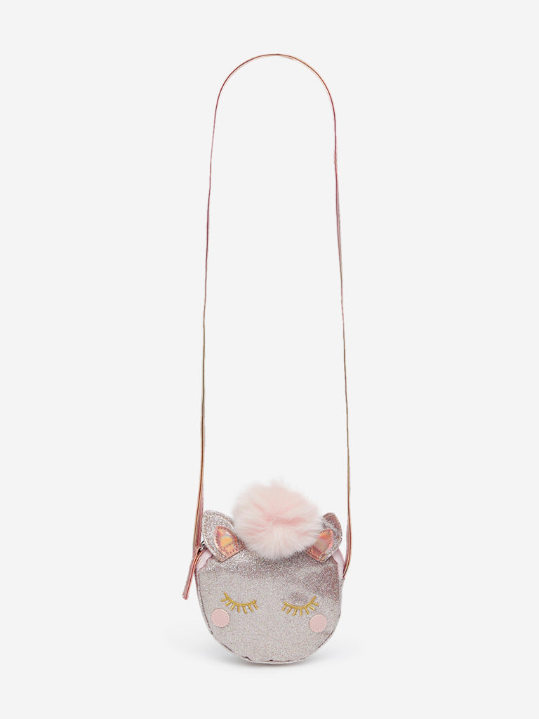 HOP Kids Rose-Gold Unicorn Sling Bag