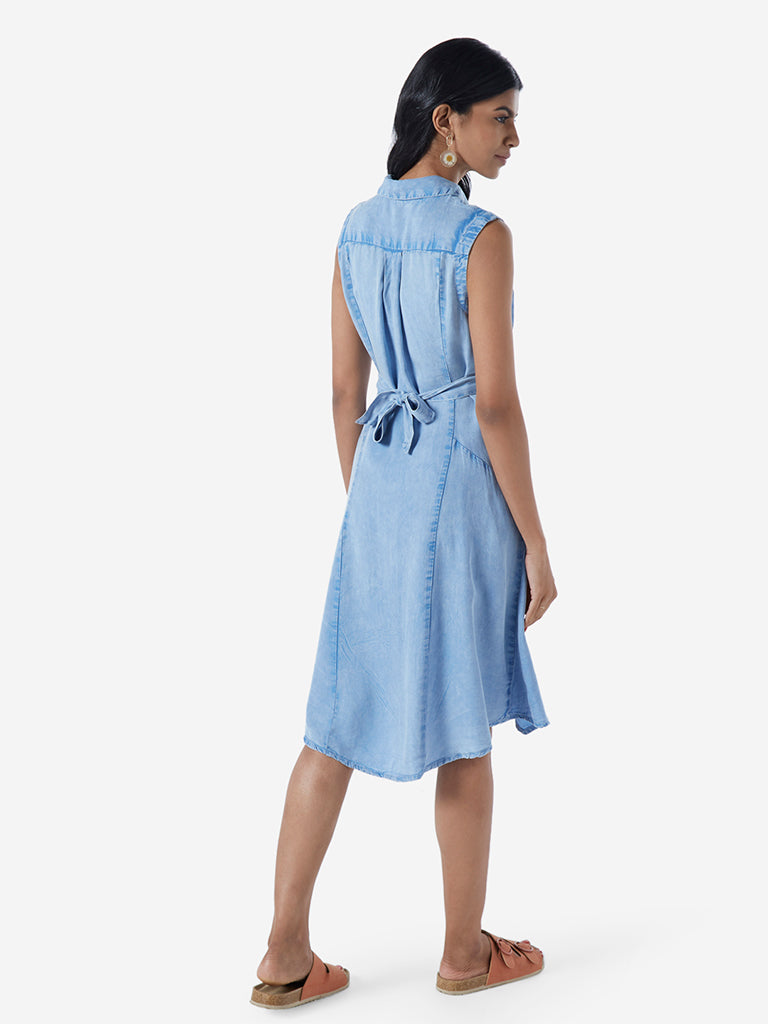LOV Light Blue Bethany Shirtdress