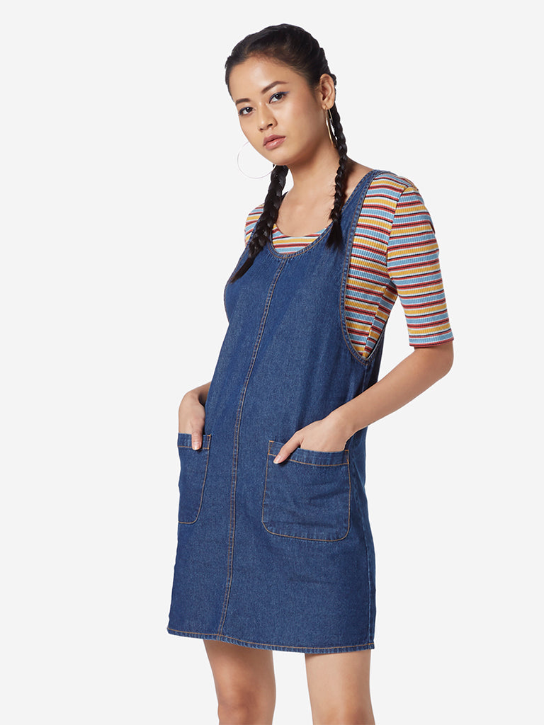 Nuon Blue Bill Denim Pinafore