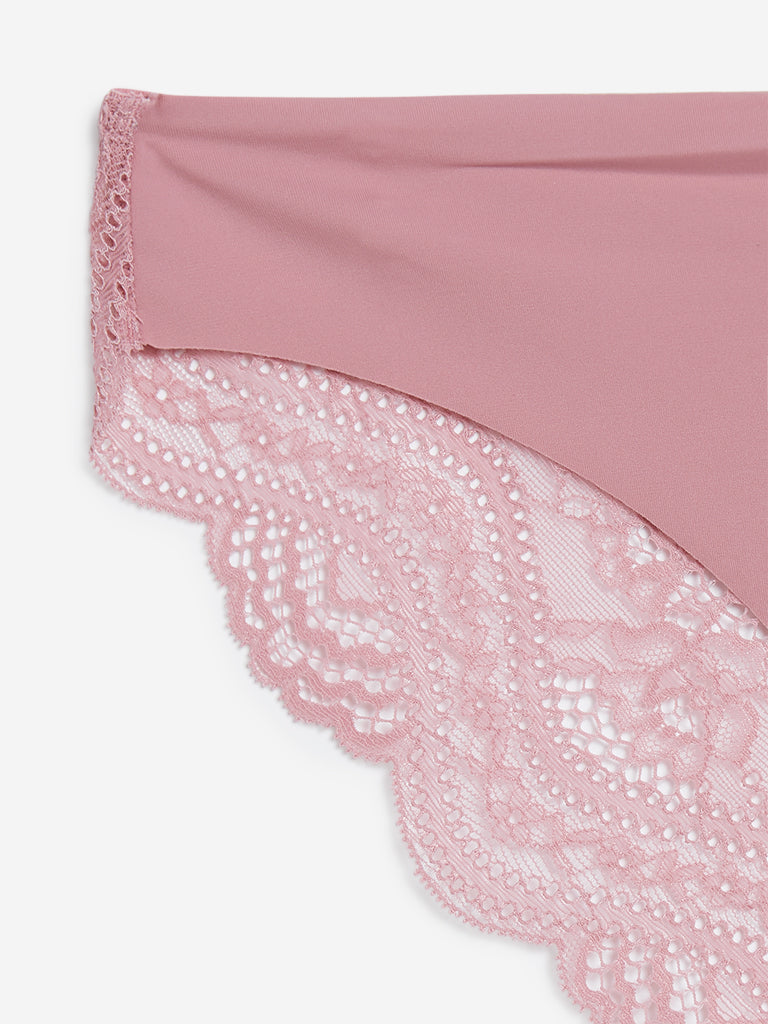 Wunderlove Pink Meghan Luxury Invisible Briefs